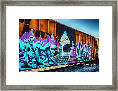 Graffiti Riding The Rails Framed Print