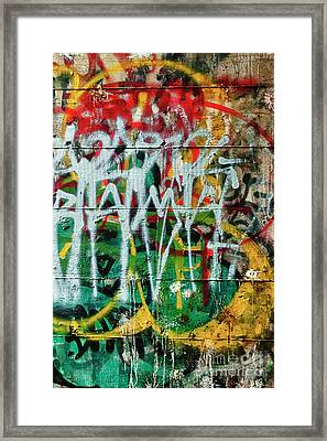Framed Print featuring the photograph Graffiti Scramble by Terry Rowe