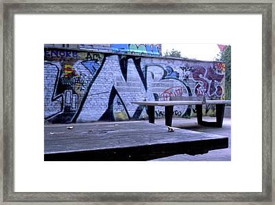 Graffiti Table Framed Print