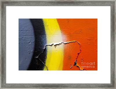 Graffiti Texture Iv Framed Print by Ray Laskowitz - Printscapes