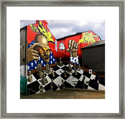 Graffiti. The Chess Player. Framed Print