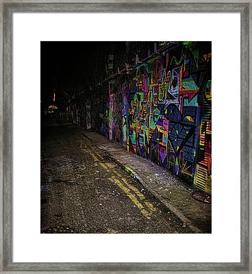 Graffiti Tunnel Framed Print by Martin Newman