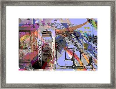 Graffitis Front Door Framed Print by Martine Affre Eisenlohr