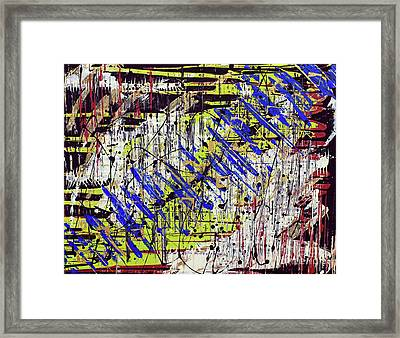 Framed Print featuring the painting Graffitti by Cathy Beharriell