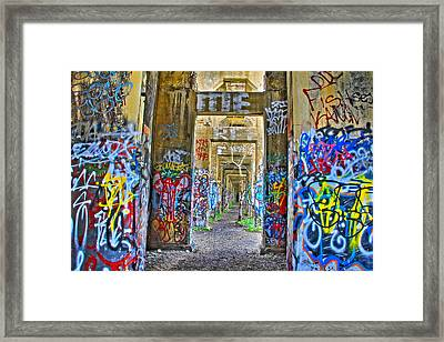 Grafiti Bridge To Nowhere Framed Print