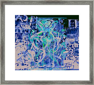 Grafiti Dance Framed Print by Noredin Morgan