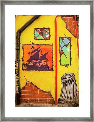 Grafiti In The City Of Naples Framed Print