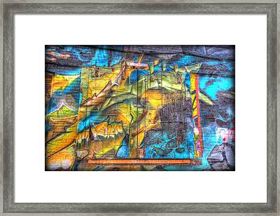 Grafiti Window Framed Print
