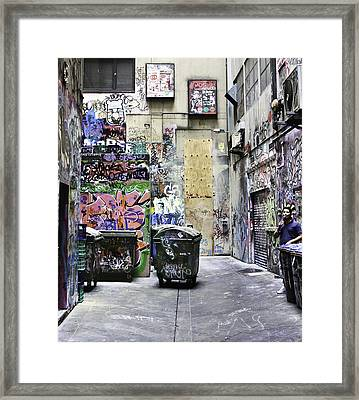 Grafitti Alley Framed Print by Mark Coran