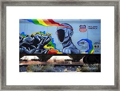 Grafitti Art Riding The Rails 2 Framed Print