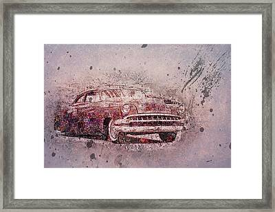 Framed Print featuring the photograph Graffiti Merc by Joel Witmeyer