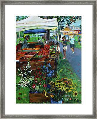 Grafton Farmer's Market Framed Print by Allison Coelho Picone