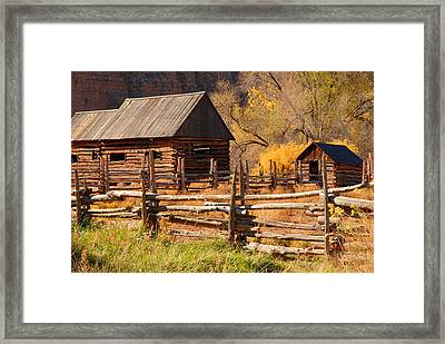 Grafton Homestead Framed Print by Dennis Hammer