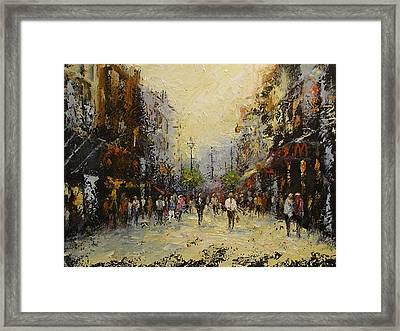 Grafton St.dublin Framed Print by Margaret Kent