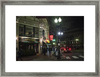 Grafton Street Hong Kong Harvard Square Cambridge Ma Framed Print