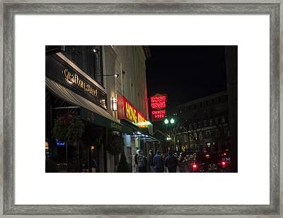 Grafton Street Pub And The Hong Kong In Harvard Square Cambridge Ma Framed Print