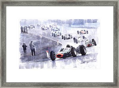 Graham Hill Brm P261 Belgian Gp 1965 Framed Print