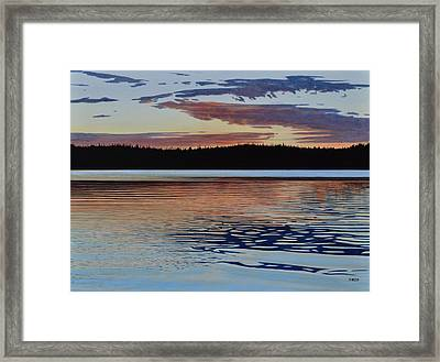 Framed Print featuring the painting Graham Lake by Kenneth M Kirsch