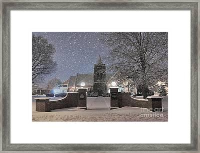 Graham Presbyterian Church Framed Print by Benanne Stiens
