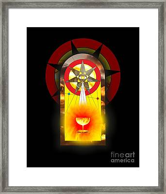 Grail Magic By Pierre Blanchard Framed Print