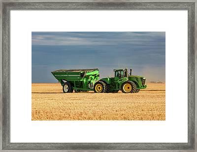 Grain Cart Framed Print