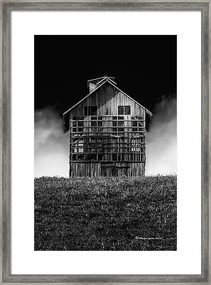 Grain Dryer Bw Framed Print by Marvin Spates