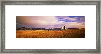 Grain Elevator Fairfield Id Framed Print by Panoramic Images