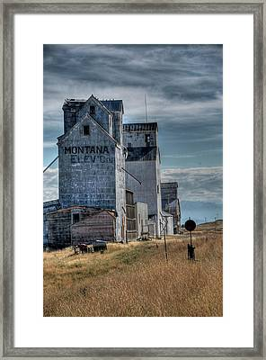 Grain Elevators, Wilsall Framed Print