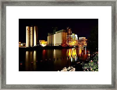 Grain Mill On The Water Framed Print by Daniel J Ruggiero