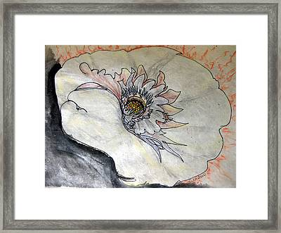 Grain Of Fire Framed Print