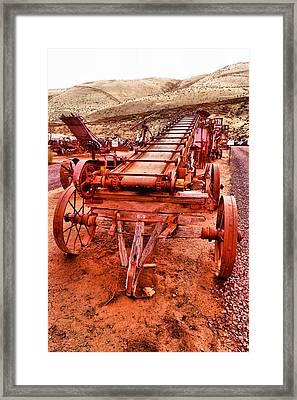 Grain Sack Loader Framed Print
