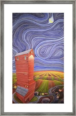 Grain Tower IIi Framed Print by Scott Kirby