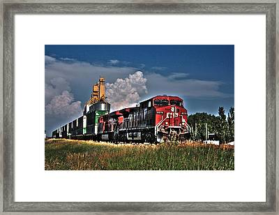 Grain Train Framed Print