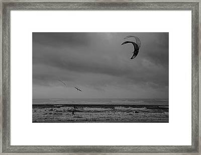 Grainy Wind Surf Framed Print