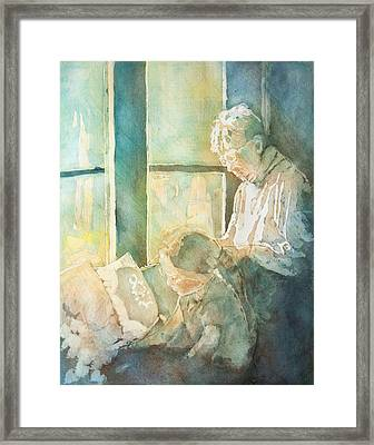 Gramdma Braids Framed Print by Jenny Armitage