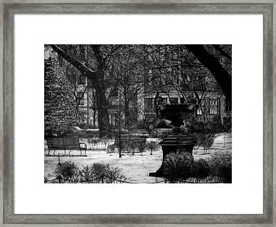 Gramercy Park Framed Print by Jerry Winick