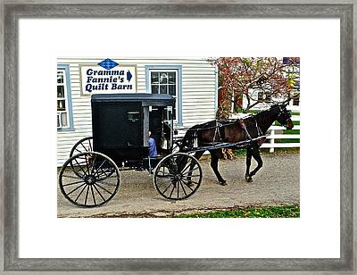 Gramma Fannies Quilt Barn Framed Print by Frozen in Time Fine Art Photography