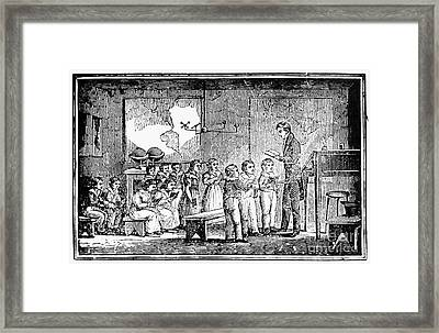 Grammar School, 1790s Framed Print