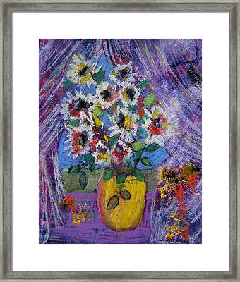 Gramma's Flowers Framed Print by Sole Avaria