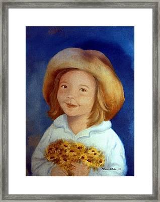 Gramma's Hat Framed Print