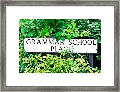 Grammer School Place Framed Print