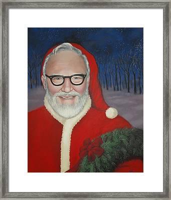 Grampa Johnson Framed Print by Carrie Auwaerter