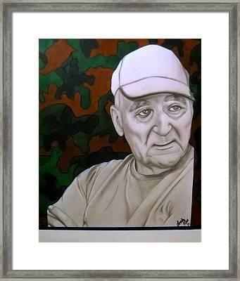 Grampa Framed Print by Linda Aiosa