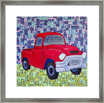 Gramps Had A Green Truck Framed Print