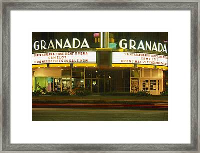 Granada Theater - State Street Framed Print by Soli Deo Gloria Wilderness And Wildlife Photography