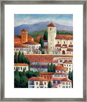Granada View Framed Print by Candy Mayer