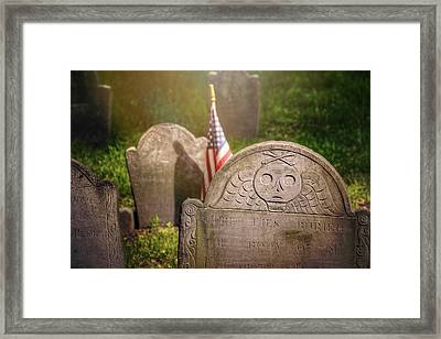 Granary Burying Ground Boston  Framed Print