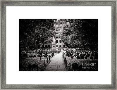 Granary Burying Ground Framed Print