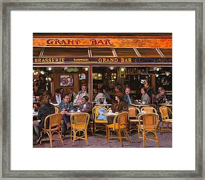 Grand Bar Framed Print by Guido Borelli