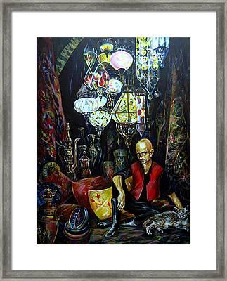 Grand Bazaar.the Cave Of Treasures Framed Print by Anna Duyunova
